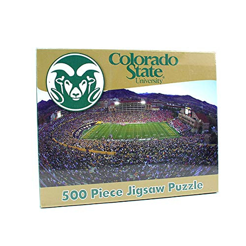 R and R Imports NCAA Colorado State Rams Unisex 500-Piece Stadium Jigsaw Puzzle, Team Color, 500-Piece