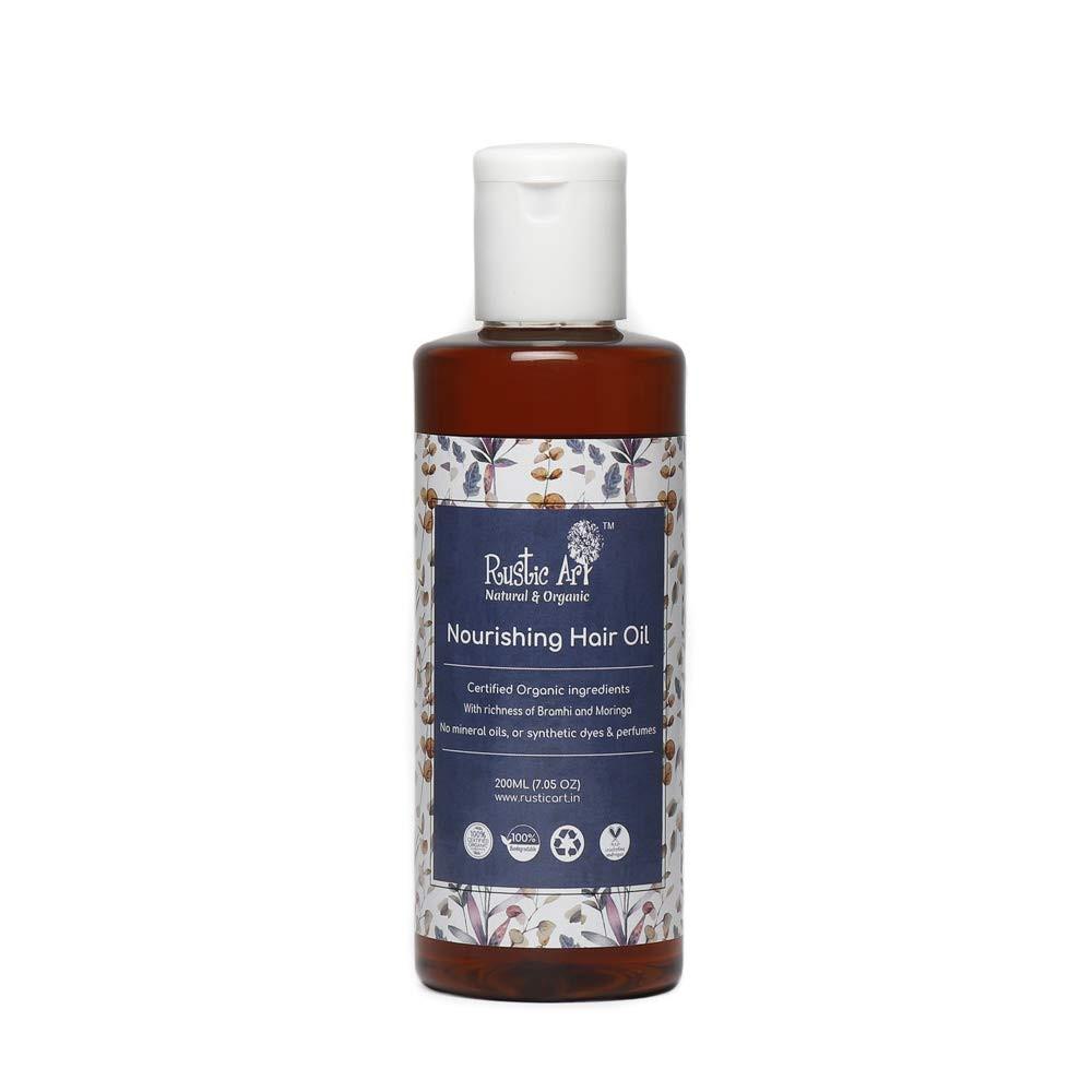 Rustic Art Organic Nourishing Hair Oil, 200 Ml