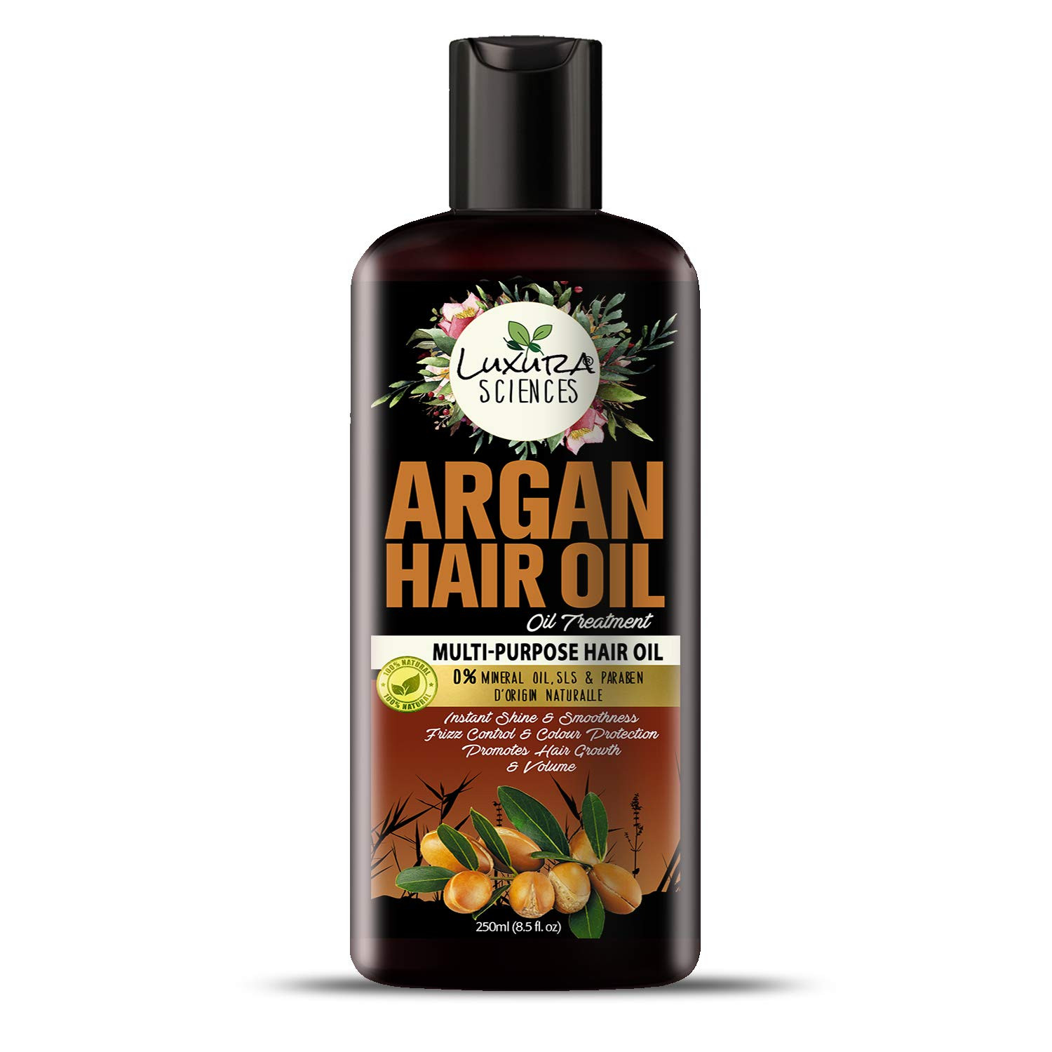 Luxura Sciences Argan Oil For Hair Growth 250ml, No Parabens, No Silicones, No Mineral Oil (New & Advanced)