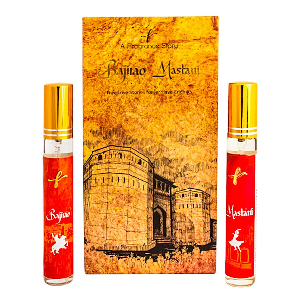 A Fragrance Story Bajirao And Mastani Eau De Parfum For Men And Women, 15 Ml (Combo Of 2)