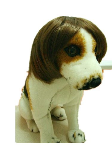 Tanya Amazing Gentleman Style Pet Wig Dog Wig 1pc Brown Color