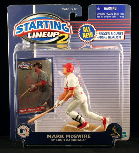 Starting Lineup Mark MCGWIRE / ST. Louis Cardinals 2001 MLB 2 Action Figure & Exclusive Trading Card