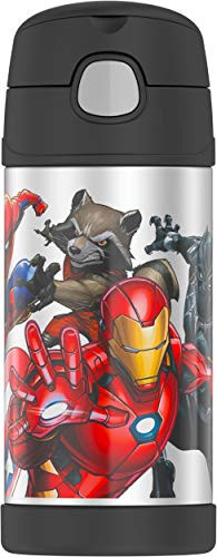 THERMOS FUNTAINER 12 Ounce Bottle, Marvel Universe