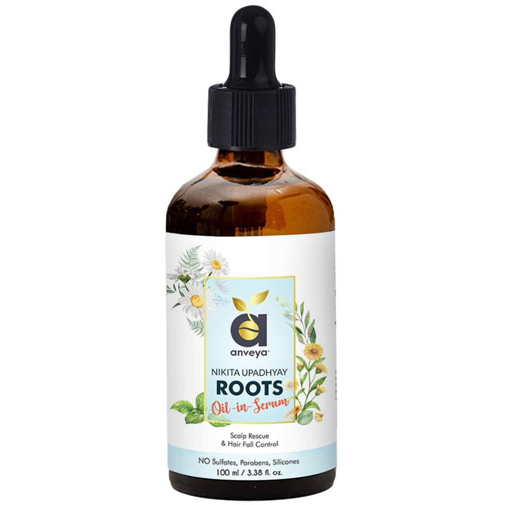 Anveya Roots Hair Oil-in-Serum, 100ml, For Hair Fall Control & Scalp Rescue. Co-Creator Nikita Upadhyay