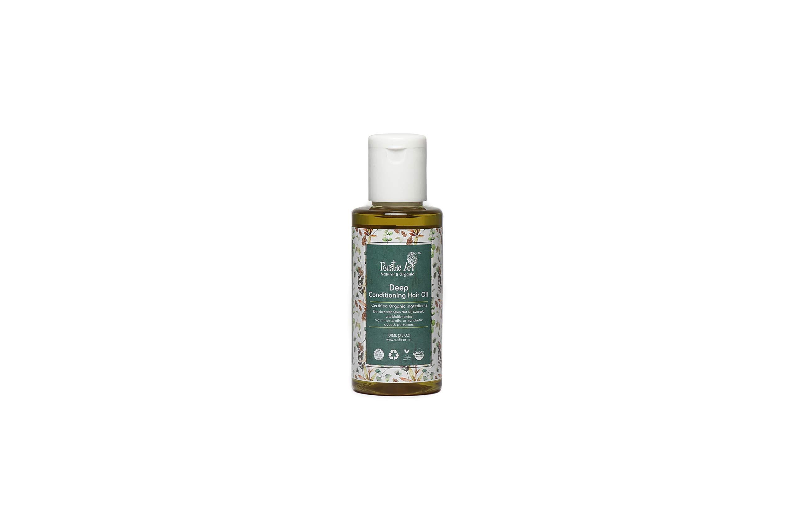 Rustic Art Organic Deep Conditioning Hair Oil, 100 Ml