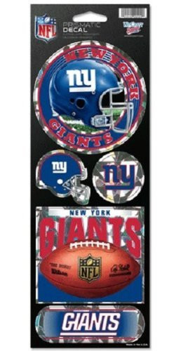 New York Giants Large 5 Pack of Holographic Stickers