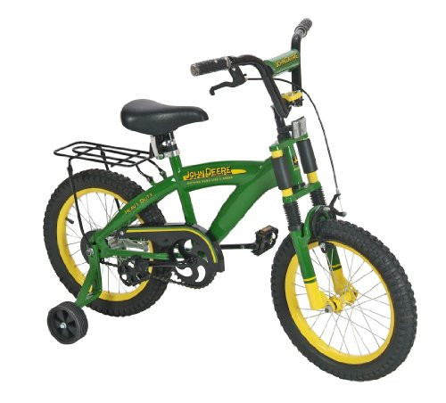 TOMY John Deere Bicycle Ride on Toy, Green, 16 Inches