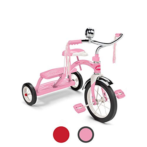 Radio Flyer Classic Pink Dual Deck Tricycle Ride On, 31.5L x 24.5W x 21.5H in.