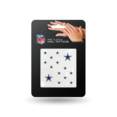 Rico Industries NFL Dallas Cowboys Nail Tattoos, Set of 12 Plus 2 Face Tattoos