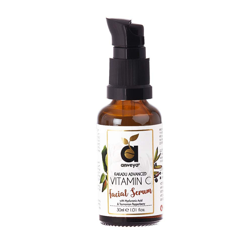 Anveya Advanced Vitamin C Serum, 30ml, with Hyaluronic Acid for Face, Pigmentation, Acne, Scars & Anti-Ageing