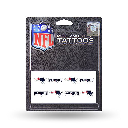 New England Patriots 8-Pack Waterless Temporary Tattoos
