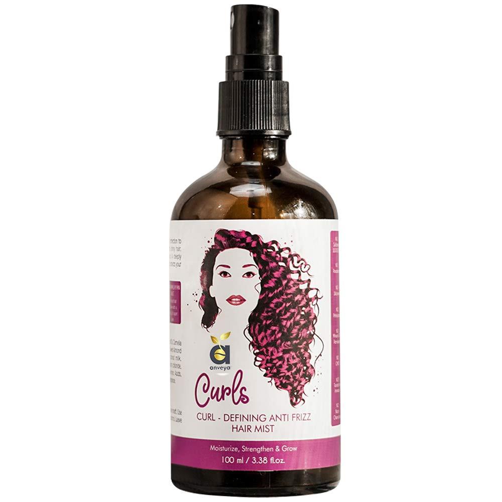Anveya Curls Hair Mist for Curly Hair, Curl-Defining Anti-Frizz, 100ml