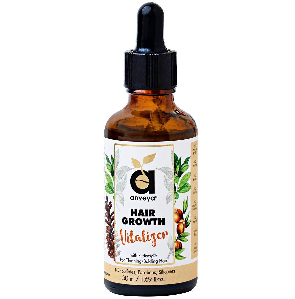 Anveya Hair Growth Vitalizer Serum, with Redensyl for Hair Fall - Men & Women
