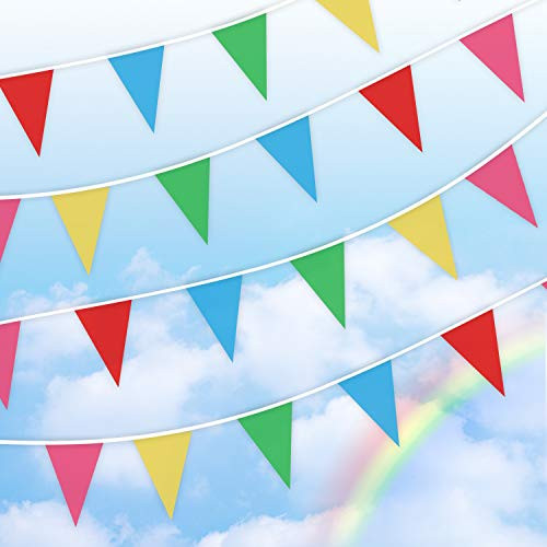 Pennant Banner Flag String,Bunting Triangle Flags ,Multicolor pennant flag string, Pennant String Banner Buntings Colorful Flags For Festival Party Holiday Decoration Christmas wedding About 262 Feet