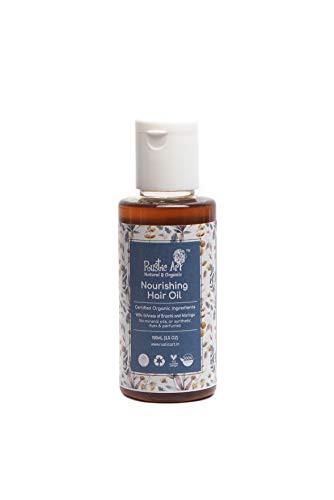 Rustic Art Organic Nourishing Hair Oil with Onion, Castor, Brahmi | Coldpessed Oils,100 Ml